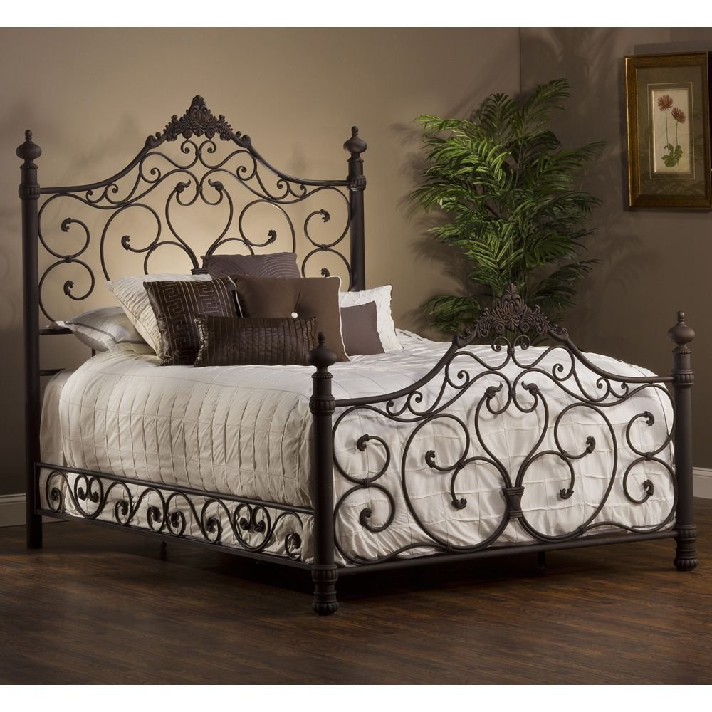 Hillsdale 1742bqr Baremore Bed Set Queen Rail Paint On Iron Headboard