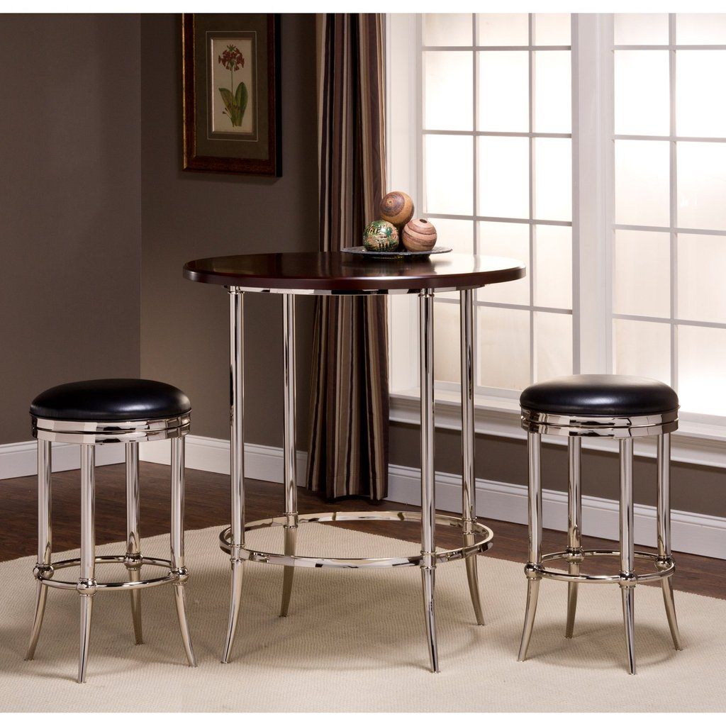 Hillsdale Maddox 3 Piece Bar Height Bistro Set Cadman Considering For Square Bistro Table