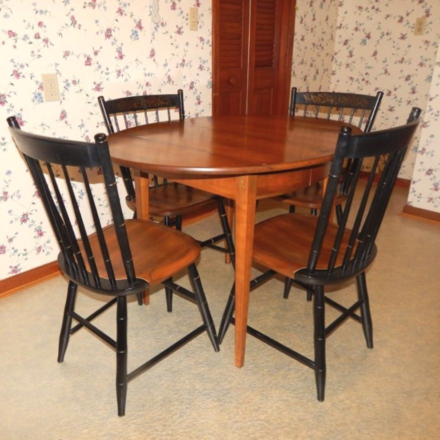 Hitchcock Style Drop Leaf Extension Dining Table Making An Drop Leaf Kitchen Table