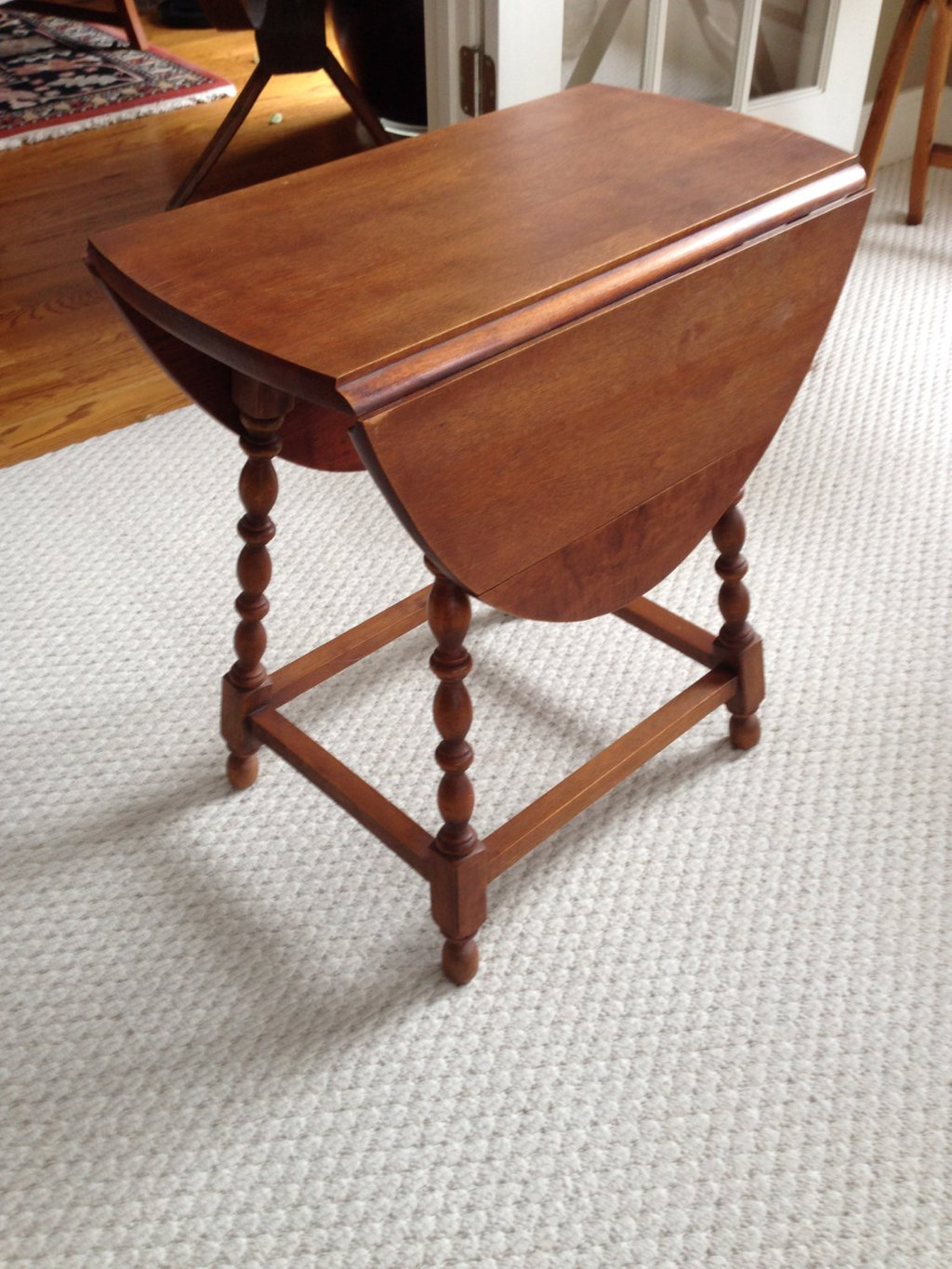 Hold Sharon Antique Drop Leaf Small Table Maple Iron Hinge Making An Drop Leaf Kitchen Table