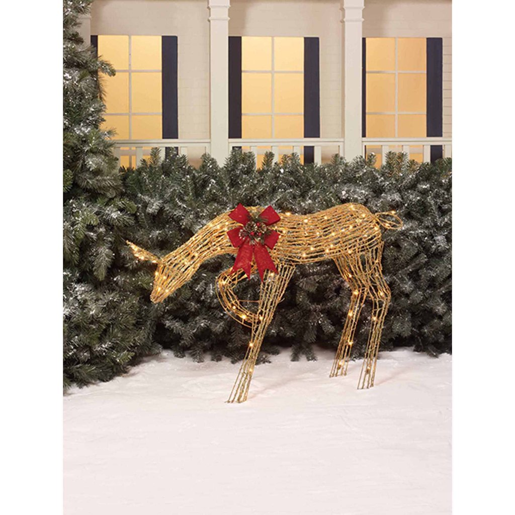 Holiday Time 48 Quot Tall Animated Standing Buck Light Outdoor Christmas Decorations Ideas