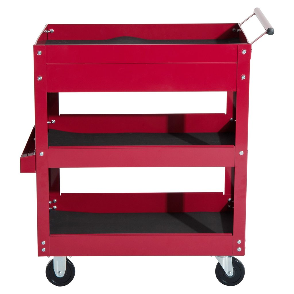 Homcom Rolling Tool Cart 3 Tray 1 Drawer Storage Chest Design Rolling Tool Cabinet