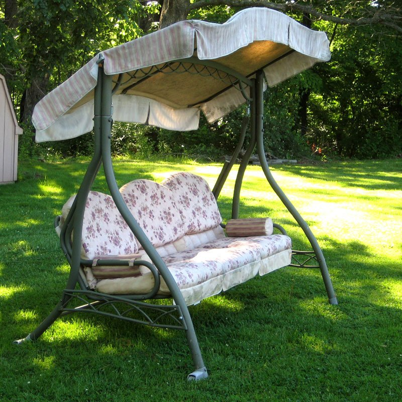 Home Trend Swing Walmart Replacement Canopy Garden Wind Wooden Porch Swings With Frame