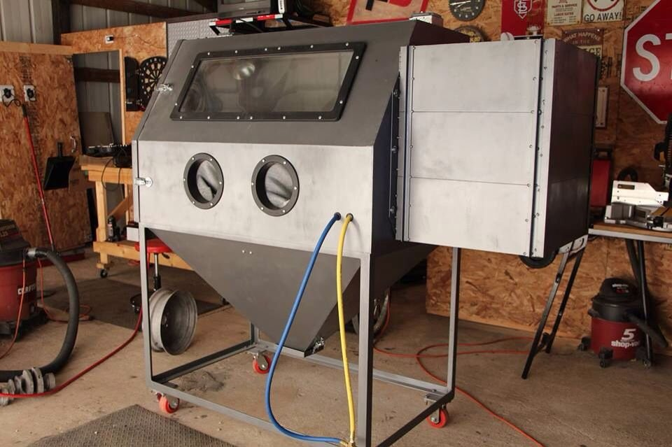 Homemade Sandblasting Cabinet Garage Workshop DIY Sand Blasting Cabinet