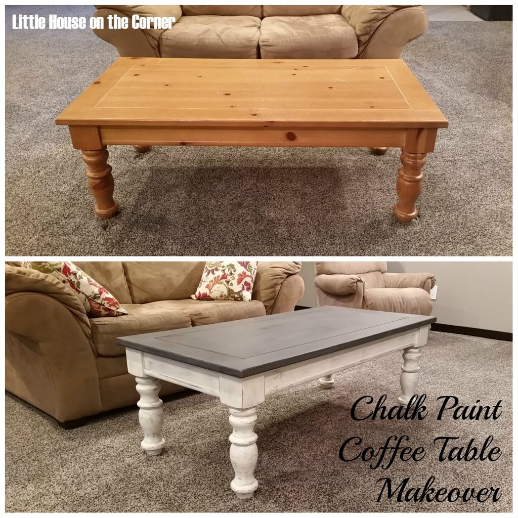 House Corner Chalk Paint Coffee Table Makeover Painted The Wicker End Tables
