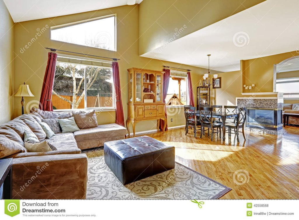 House Interior Bright Living Room Dining Area Color Design For House Interior Dining Room