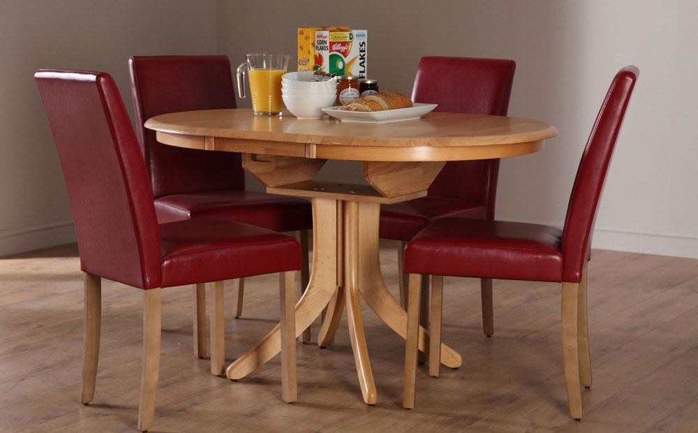 Hudson Extending Dining Table 6 Chair Set City Classic Round Extendable Dining Table