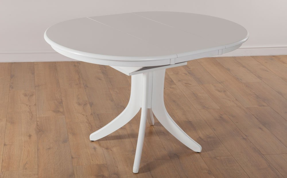 Hudson White Extending Dining Room Table 90 120 Classic Round Extendable Dining Table