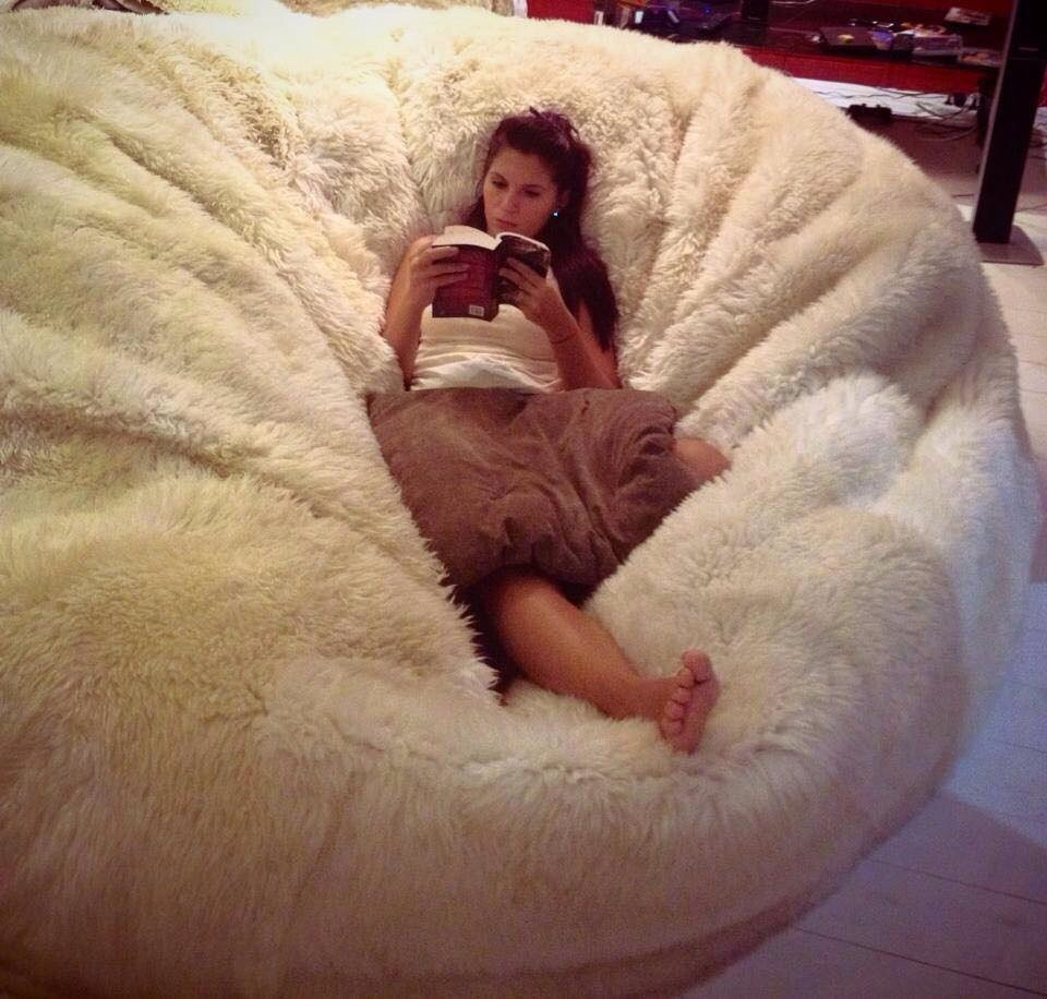 Huge Fluffy Bean Bag Hunt Extra Large Bean Bag For Any Style Of Decoration