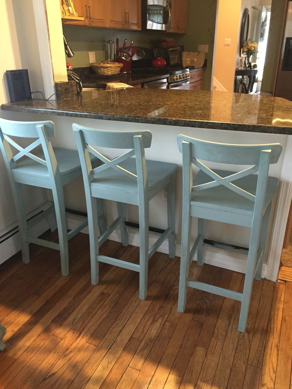 Ikea Counter Stool Painted Annie Sloan Chalk Paint Ideas Kitchen Counter Stools