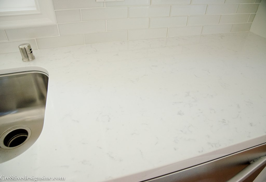 Ikea Kitchen Completed Cre8tive Design Timeless White Quartz Countertops