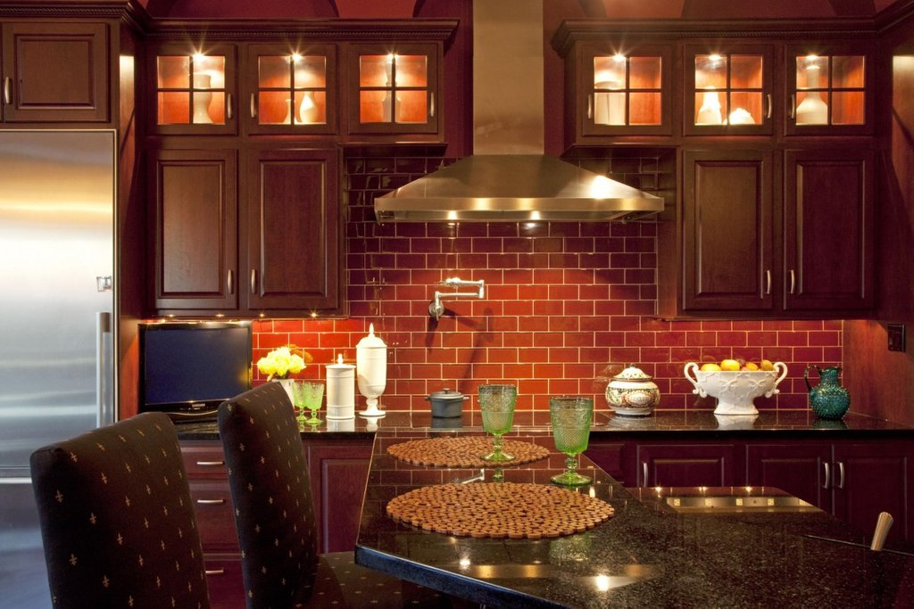 Image 14026 Post Brick Kitchen Idea 8x8 Faux Brick Flooring Finish