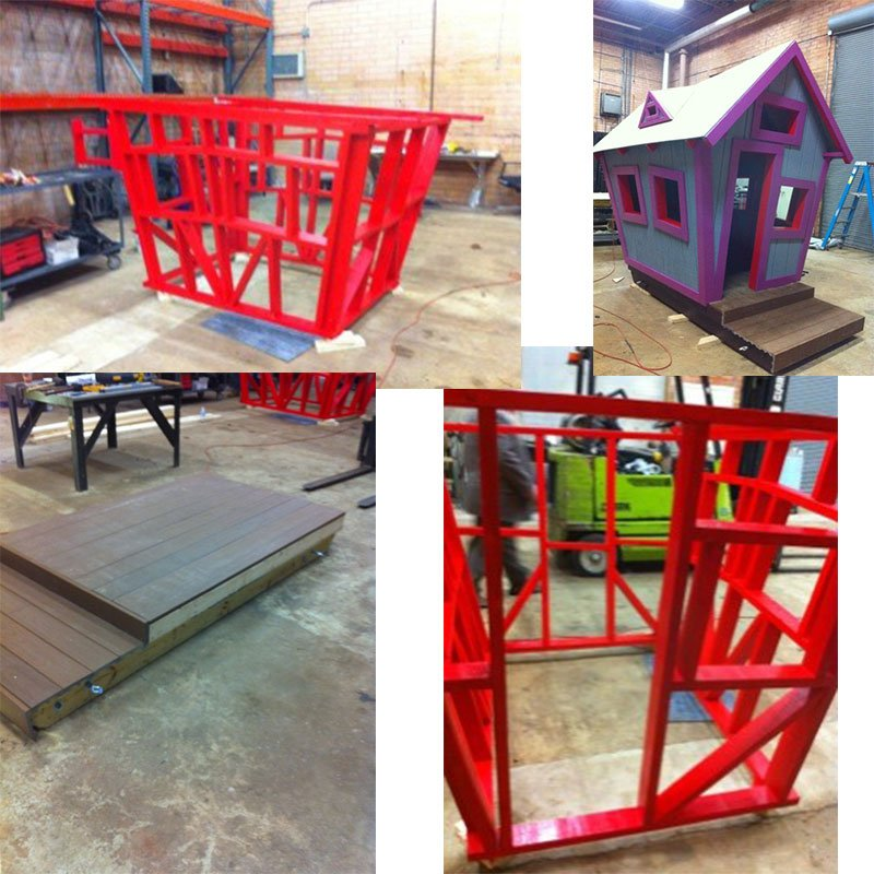 Image Gallery Twisted Playhouse Outdoor Wooden Playhouse With Slide