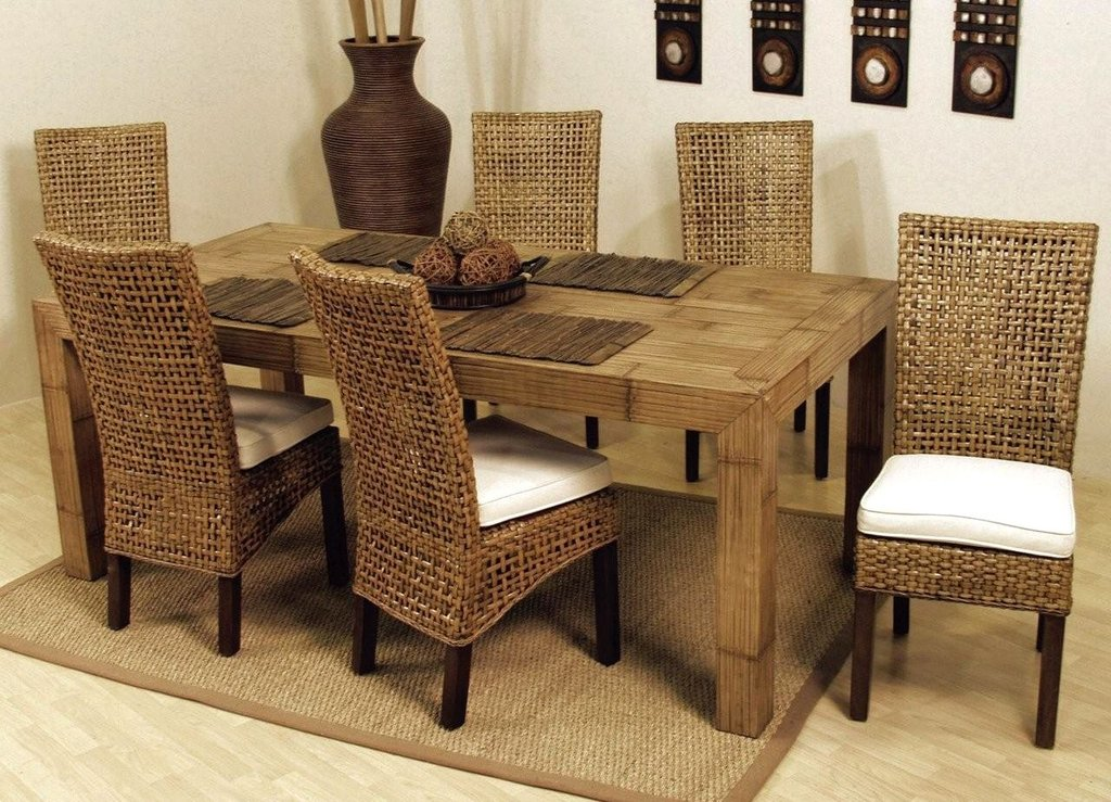 Image Wicker Dining Chair Set Size Medium How To Repair Rattan Dining Chairs