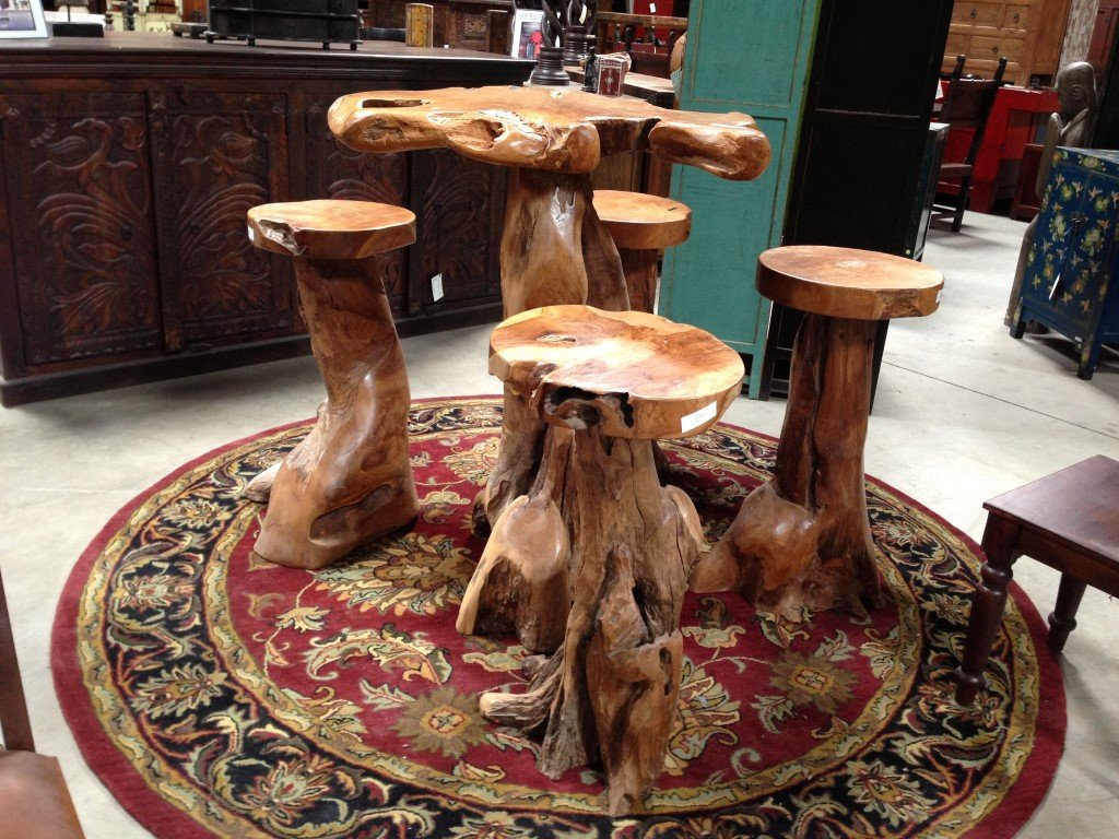Indonesian Furniture San Diego Imported Indonesium Making Tree Stump Coffee Table