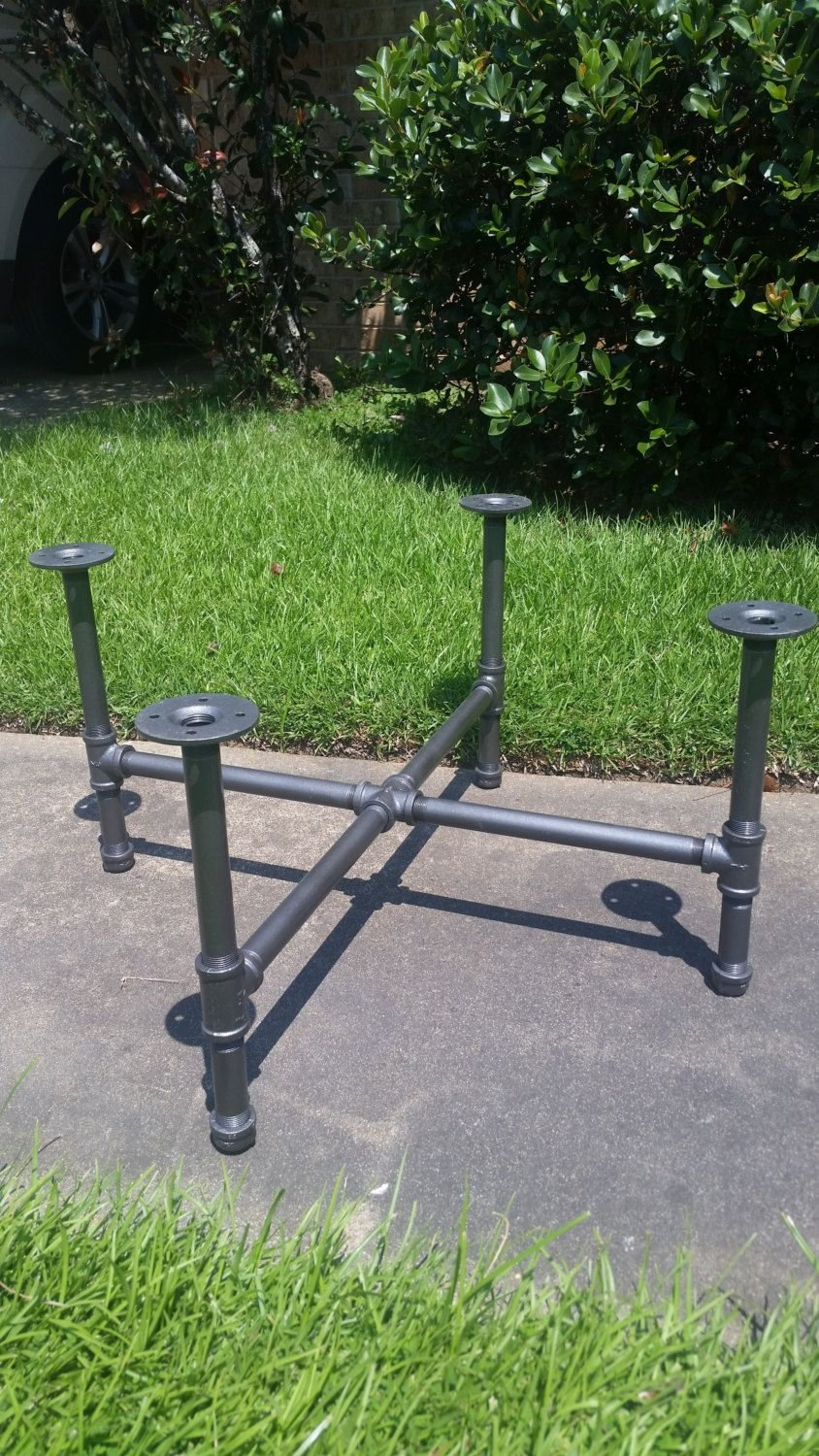 Industrial Pipe Leg Set Small Dining Counter Make A Tree Trunk Coffee Table