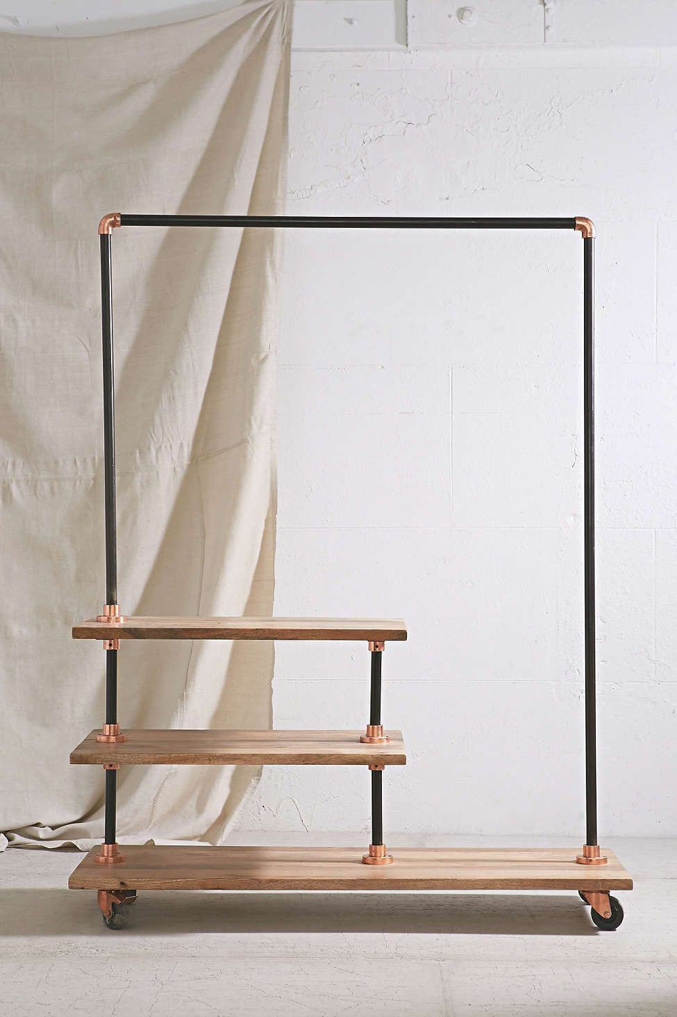 Industrial Storage Rack Home Industrial Storage Rack Ideas For Wooden Clothes Rack