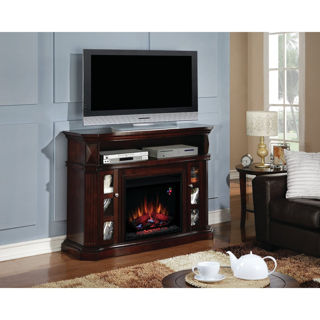 Inspirations Beautiful Corner Fireplace Tv Stand