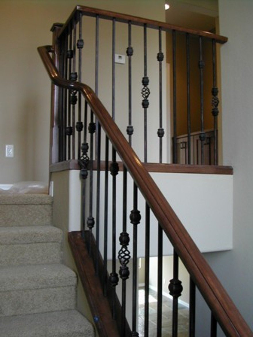 Interior Railing Kits Contempo Image Indoor Stair Building Wood Stair  Railing