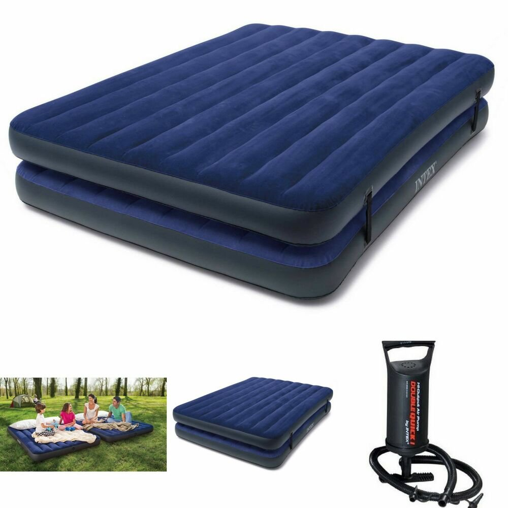 Intex Double Air Mattress Luftbett Testsieger Bestenliste Pull Out Sofa Bed With Storage