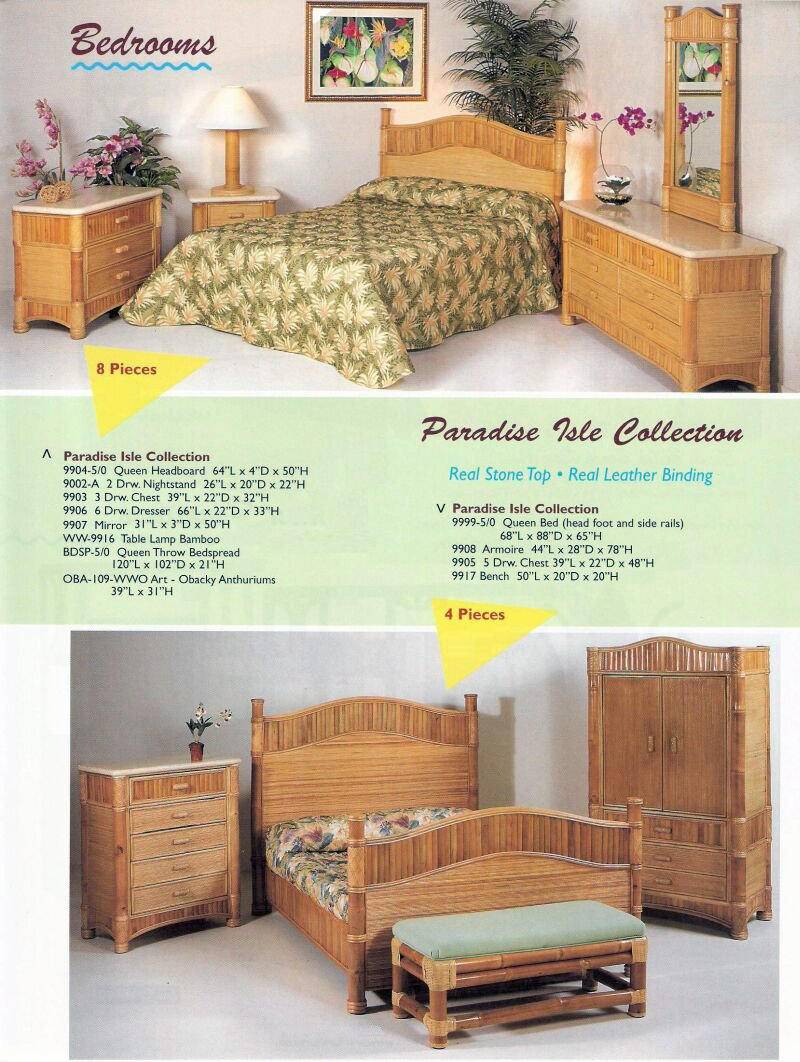 Island Collection Kauai Bedroom Furniture Rattan Ideas For A Twin Headboard For Double Bed