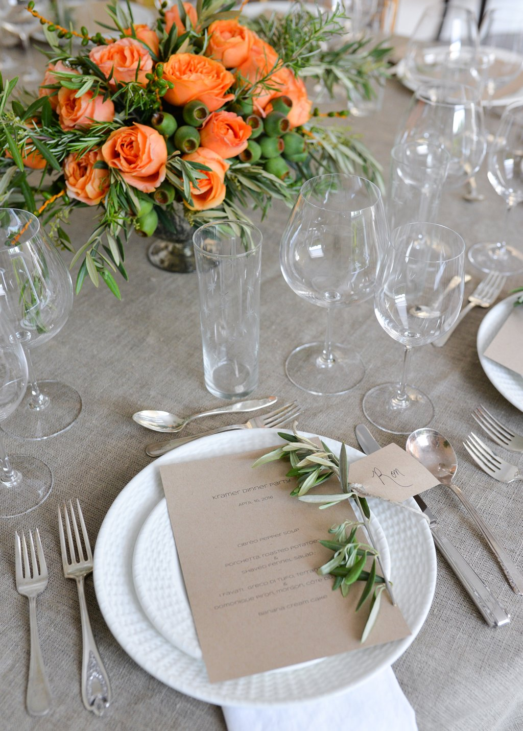 Italian Dinner Party Stacie Flinner Making Dining Room Table Centerpieces