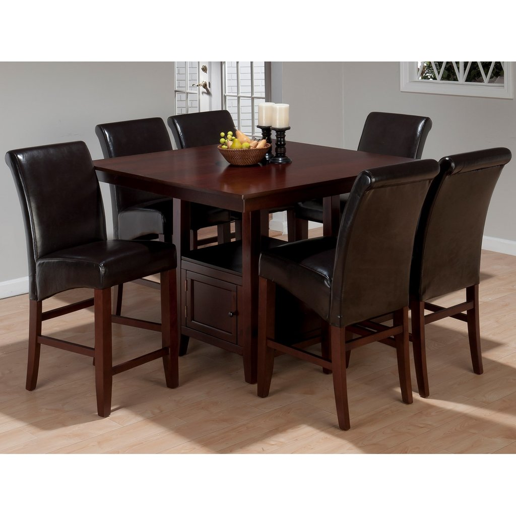 Jofran Tessa Counter Height Square Dining Table Counter Height Kitchen Tables Design