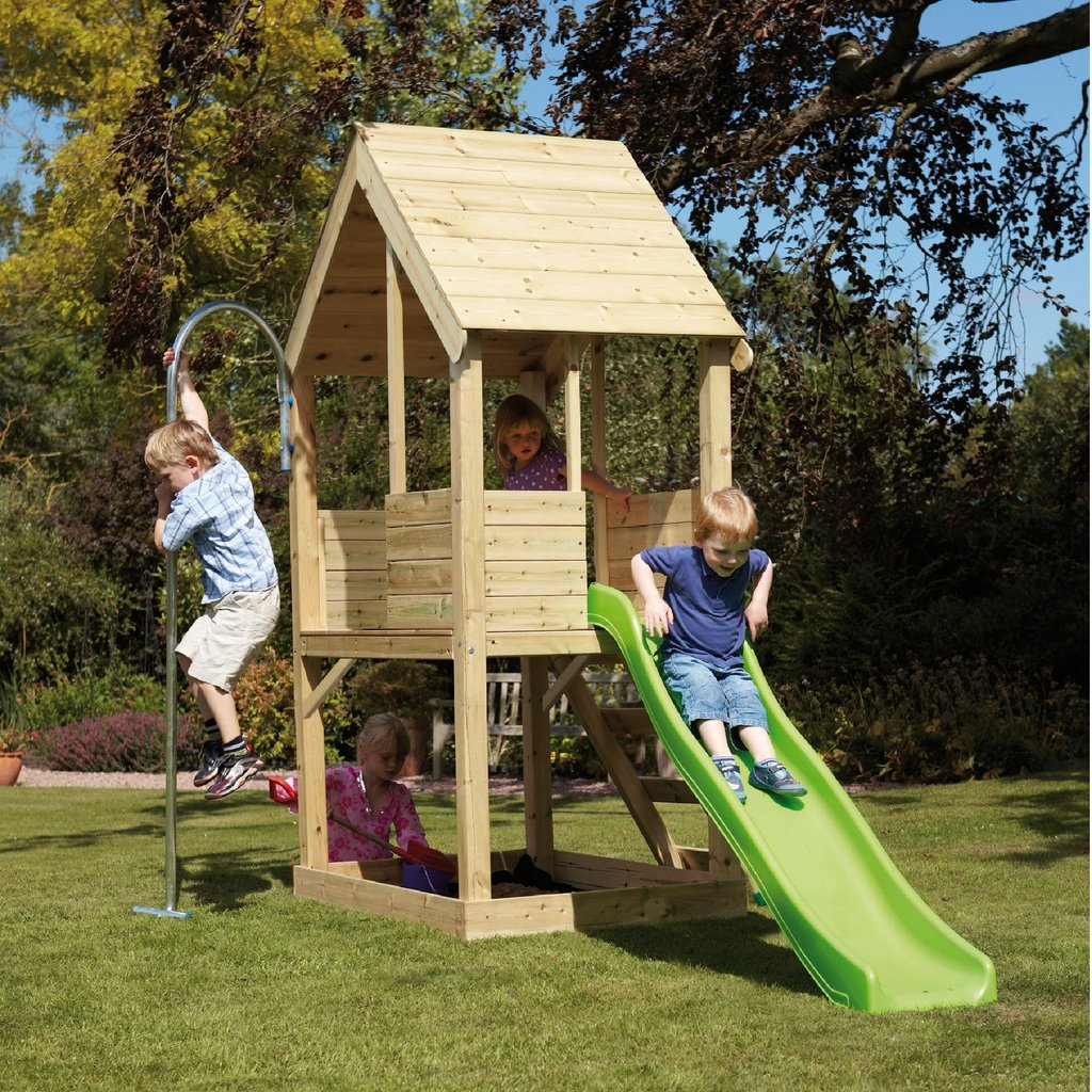 Kid Wood Playhouse Kid Garden Toys Play House Durability Of Kids Wooden Playhouse
