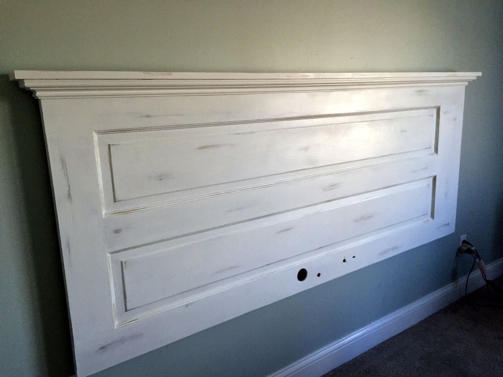 King Headboard Door Annie Sloan Pure White Chalk Padded Headboard Ideas