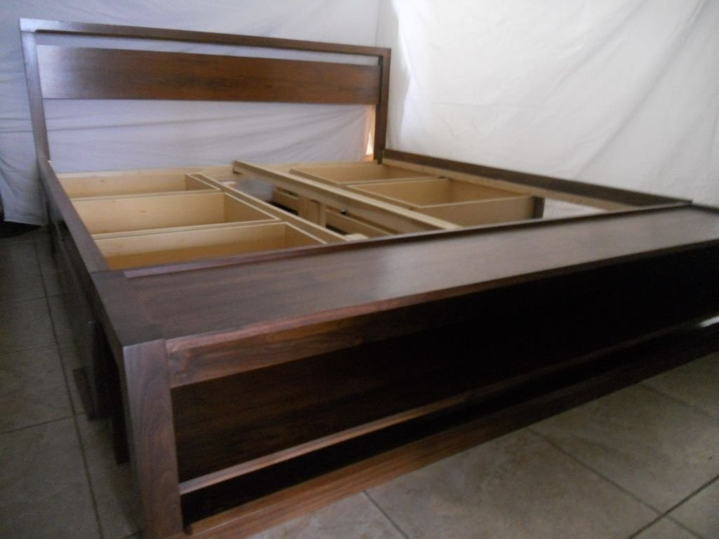 King Size Bed Frame Drawer Custom King Size How To Build A Wood Twin Bed Frame