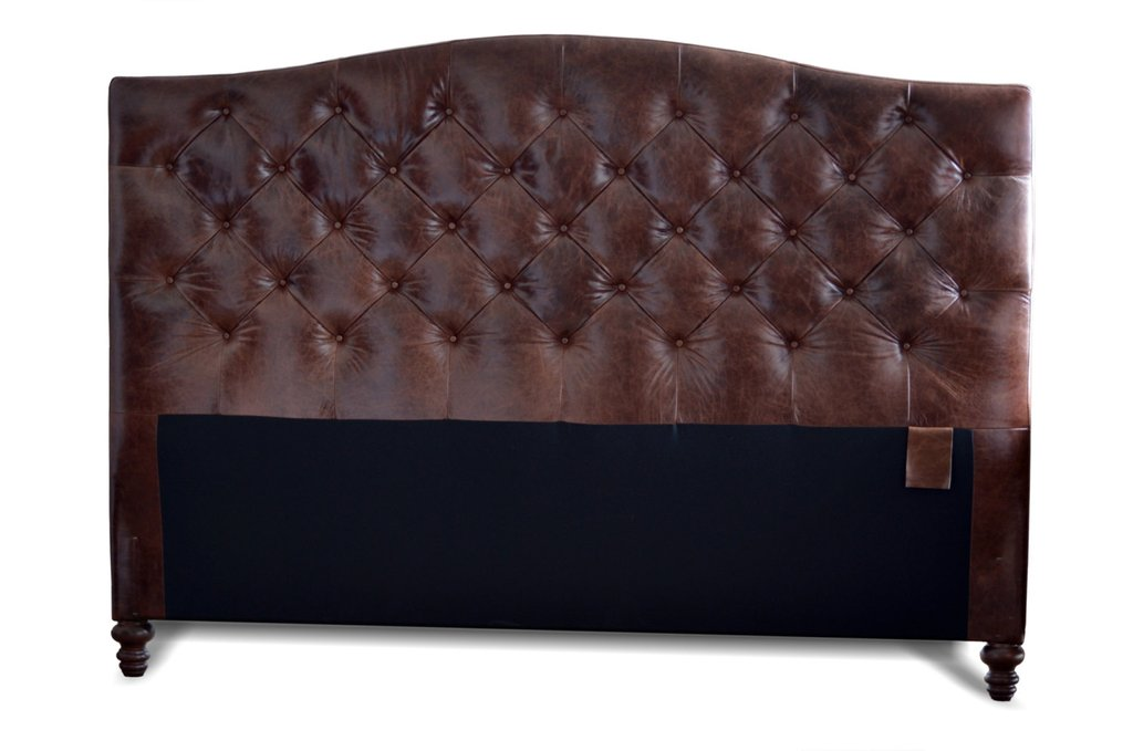 King Size Brunette Genuine Leather Diamond Tufted Make An King Upholstered Headboard Size Sheet