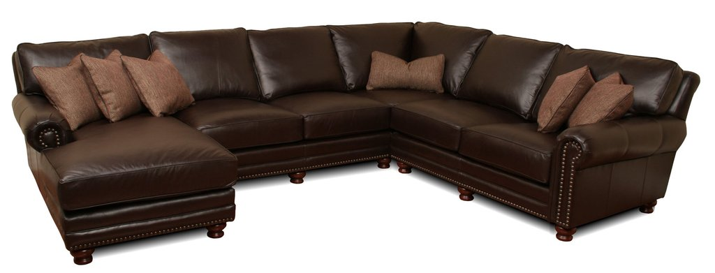 Kingston Deep Leather Sectional Deep Sectional Sofas Living Room Furniture
