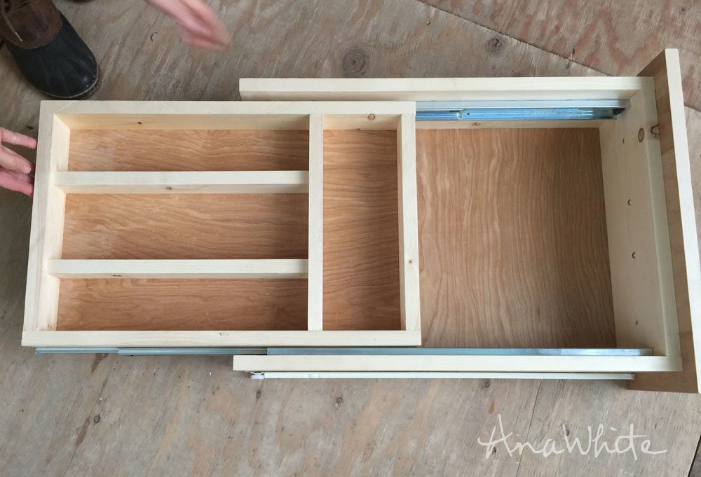 Kitchen Drawer Organizer Adding Double Drawer Make Wooden Narrow Dresser Easier For The Drawer Slide