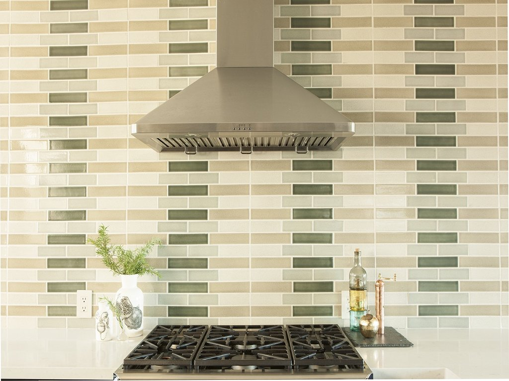Kitchen Green Backsplash Perfect Home Design Rubber Floor Tiles