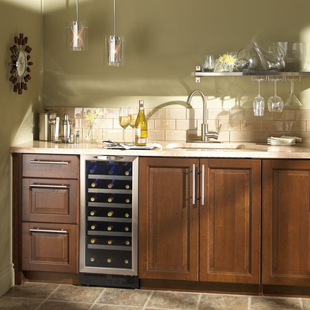 Kitchen Wine Cooler Counter Wine Cooler How To Installing Wine Cooler Cabinet