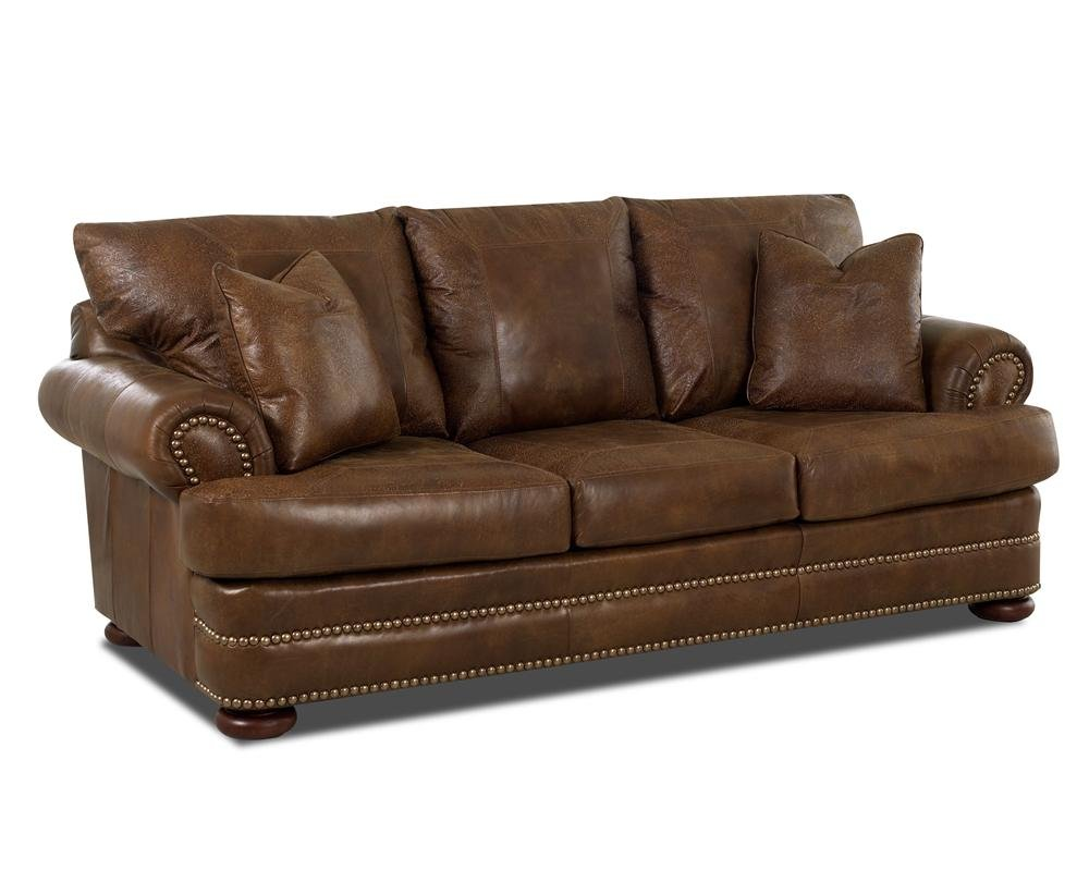 Klaussner Montezuma Leather Sofa Rolled Arm Sheely How To Reapir A Microsuede Sofa