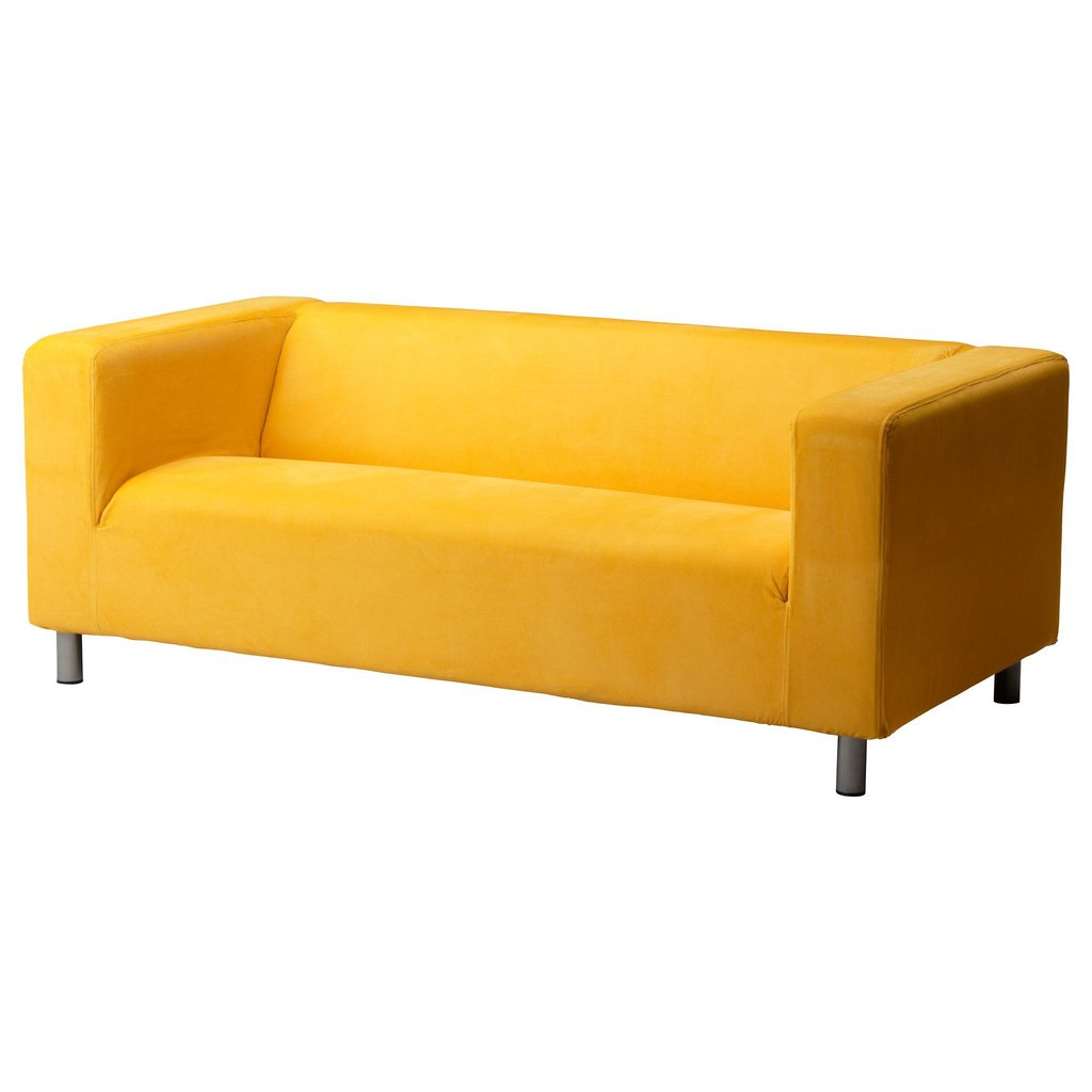 Klippan 2 Sit Soffa Leaby Gul Ikea Office Work Leather Sofa And Loveseat Covers
