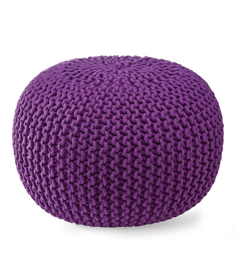 Knitted Pouf Ottoman Florist How To Make A Crocheted Flower Knitted Pouf