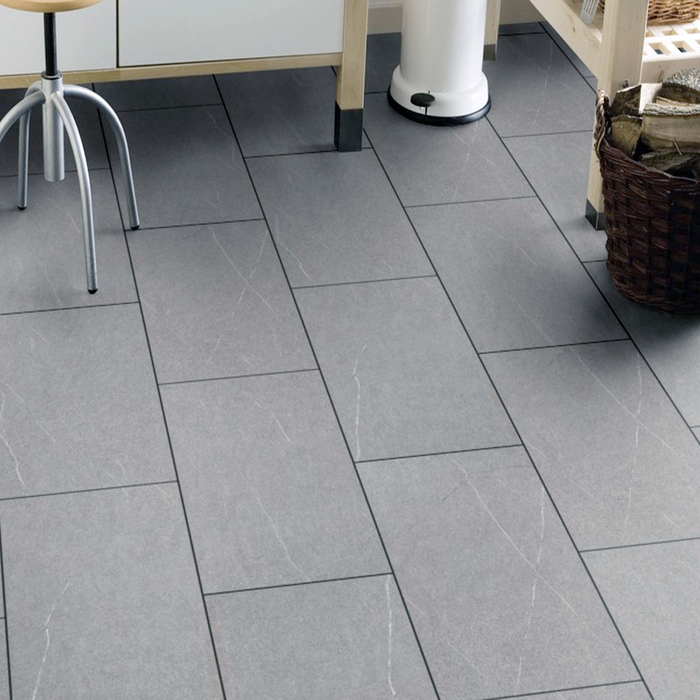 Krono Stone Impression Pietra Piasentina 8mm Ac4 Stone Tile Effect Laminate Flooring For Bathrooms