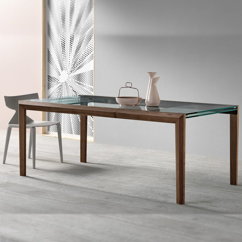 Lapsu Extendable Glass Dining Table Tonelli Klarity Extendable Dining Table Ideas