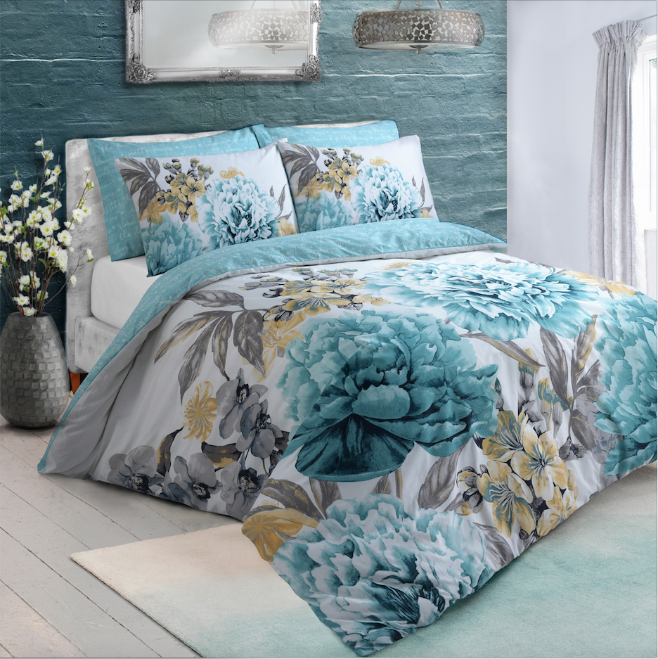 Large Floral Bloom Duvet Cover Set Wholesale Bedding Sofa Protector Home Ideas