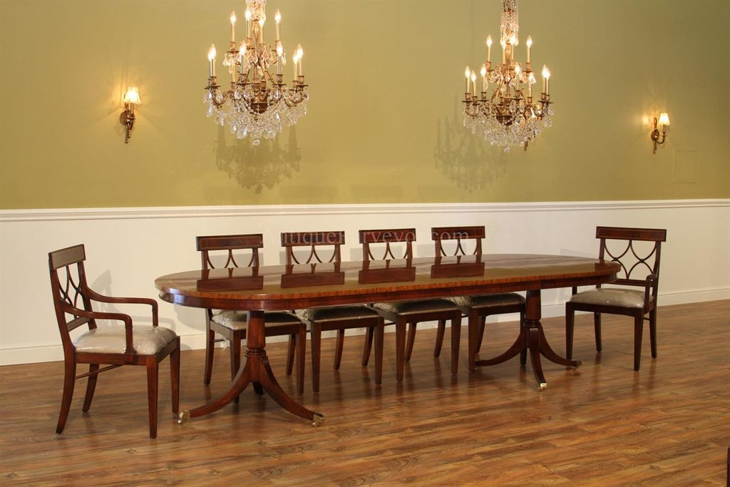 Large Oval Mahogany Double Pedestal Dining Room Table Double Pedestal Dining Table Antique
