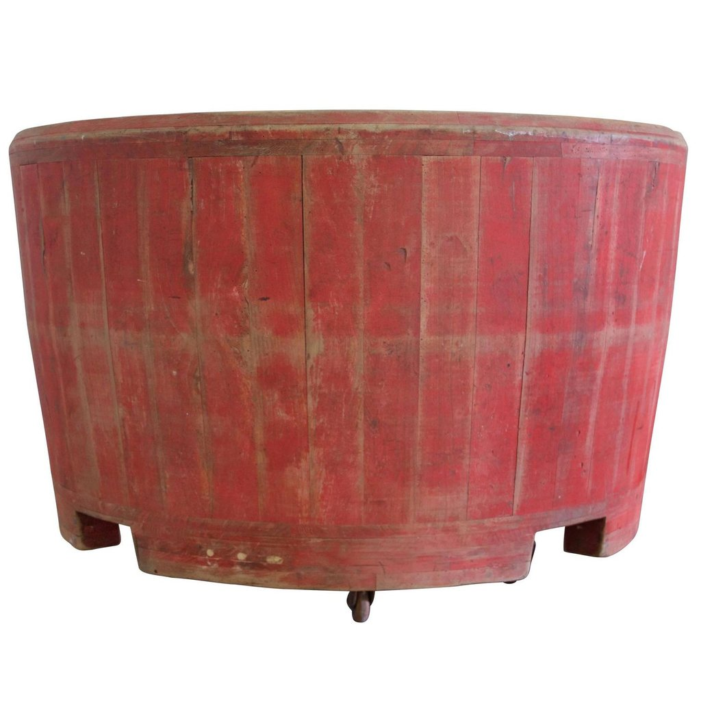 Large Wooden Tub 1stdib How To Build A Wooden Bathtub Stool