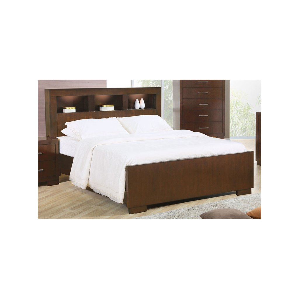 Lavoie Furniture Jacqueline Contemporary Panel Bed How Make Queen Bookcase Headboard