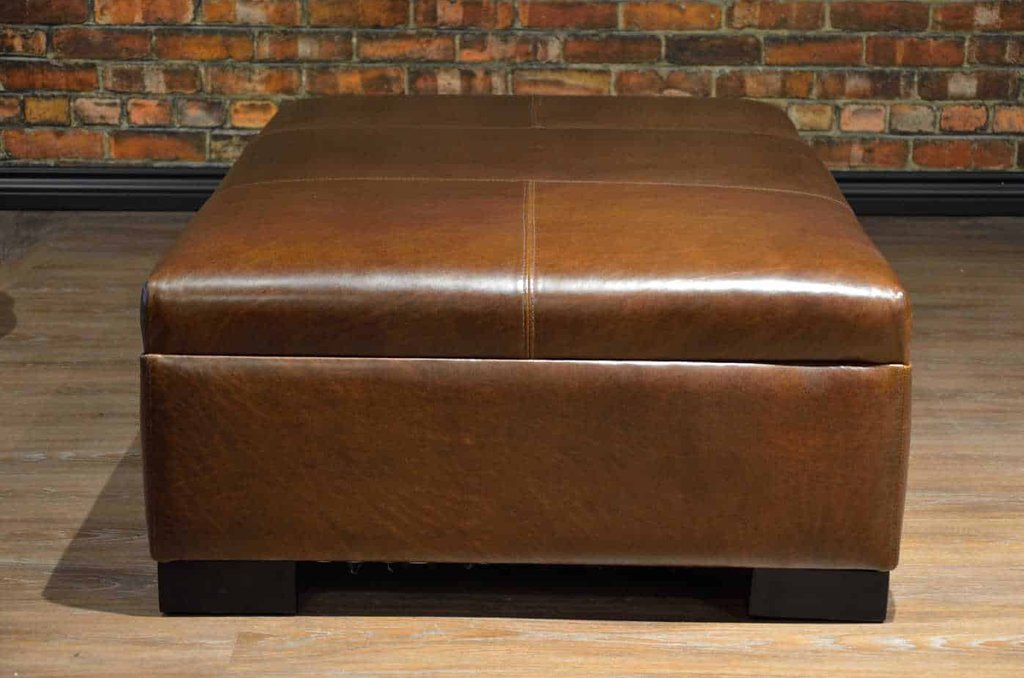 Leather Coffee Table Ottoman Collection Medium Square Leather Ottoman Coffee Table