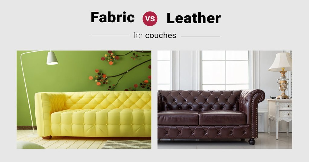 Leather Fabric Sofa Choice How To Build Round Wood Table Tops