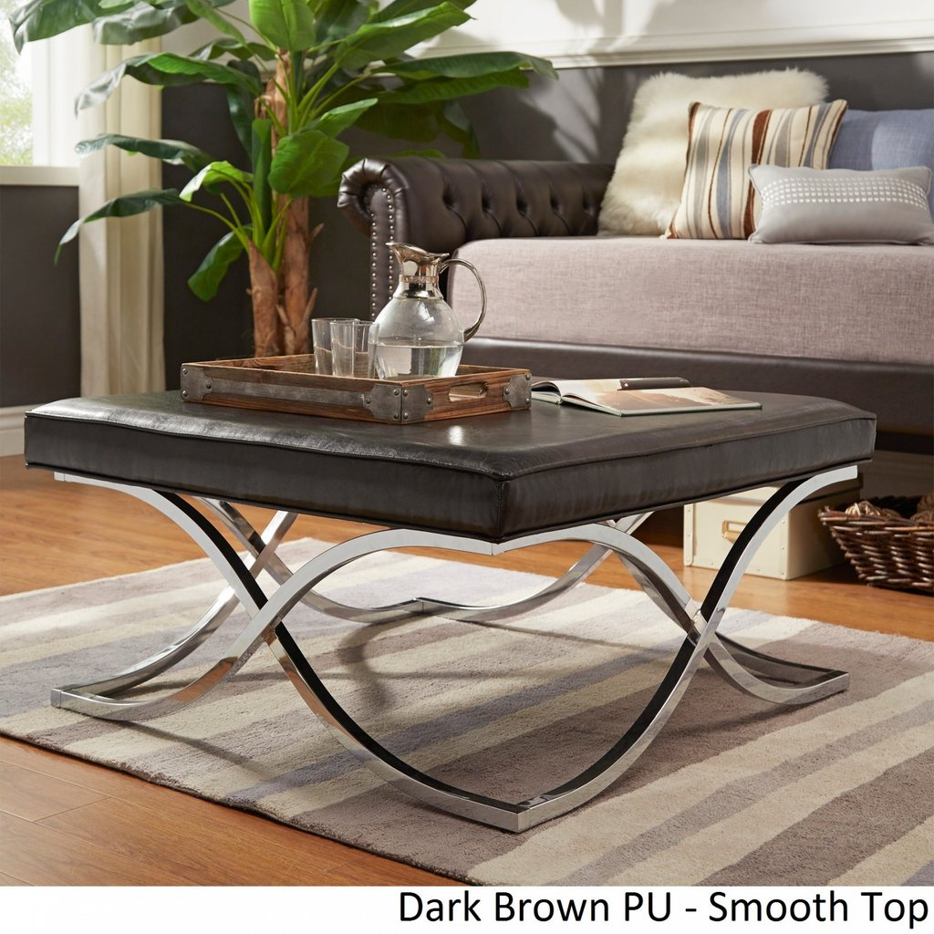 Leather Ottoman Coffee Table Pottery Barn Stylish Idea Decorate A Leather Ottoman Coffee Table