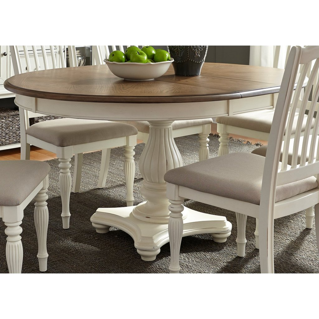 Liberty Furniture Cumberland Creek Dining Pedestal Table Double Pedestal Dining Table Antique