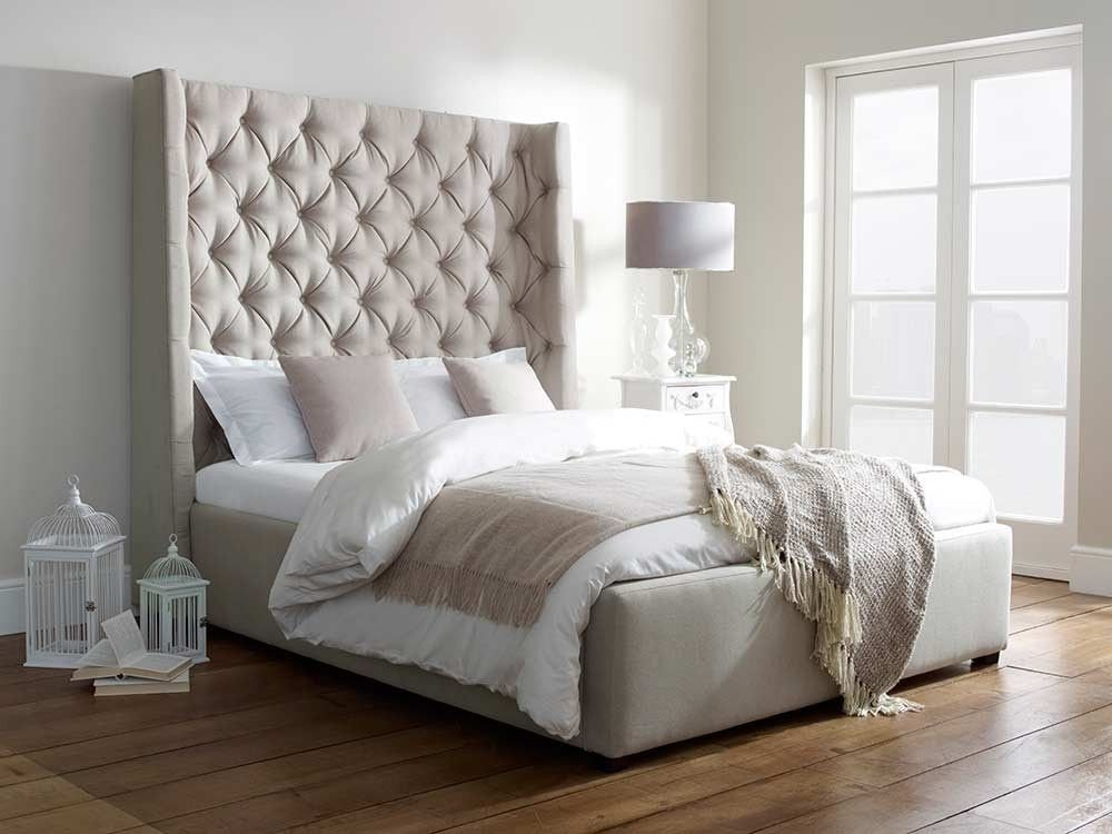 Likeness Awe Inspiring Tall Upholstered Bed Make An King Upholstered Headboard Size Sheet