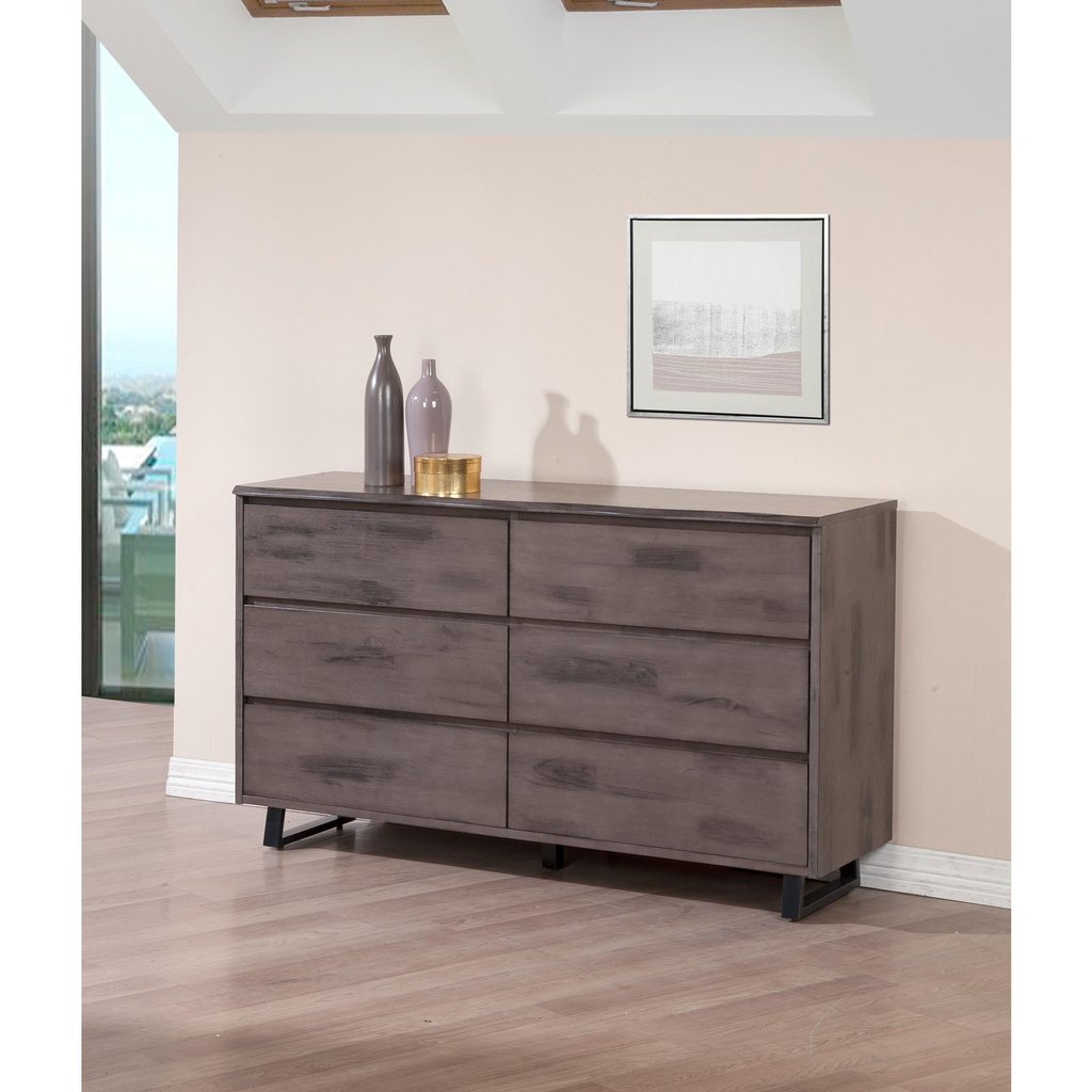 Live Edge Rustic Ash 6 Drawer Dresser Overstock Shopping Mirrored Nightstand And Dresser